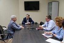 PAVEL ROZHKOV IN THE OFFICES OF RPC MET WITH THE PRESIDENT OF THE SPORTS COMMITTEE OF TULA REGION DMITRIY YAKOVLEV