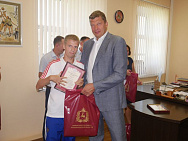 The Minister of sports of Nizhny Novgorod Region Sergey Panov met with the members of the national football team for persons with cerebral Palsy, the European champions of the year