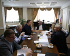 Vladimir  Lukin, Pavel Rozhkov, Andrey  Strokin in the RPC office held a meeting with the Chairman of the Higher Guarantees (Supervisory) Council of the All-Russian Federation of Sports of the Persons with Physical Impairments, President of the Charitable