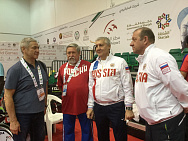 Pavel Rozhkov met with Russian wheelchair fencing team in Sharjah.