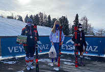 Russian National Para Alpine Skiing Team took 1 gold and 4 silver medals in the First Stage of the IPC Para Alpine Skiing Word Cup
