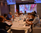 "At the conference-hall of the sanatorium ""Russian railways"" (RZHD) ""Mys Vidny"" within the frames of the IWAS World Games 2015 of the International Wheelchair and Amputee Sports Federation being delivered in Sochi the Executive Board of the International W"