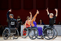 RUSSIA'S NATIONAL DANCES ON THE WHEELCHAIRS CHAMPIONSHIP WAS HELD IN ST. PETERSBURG, RUSSIA